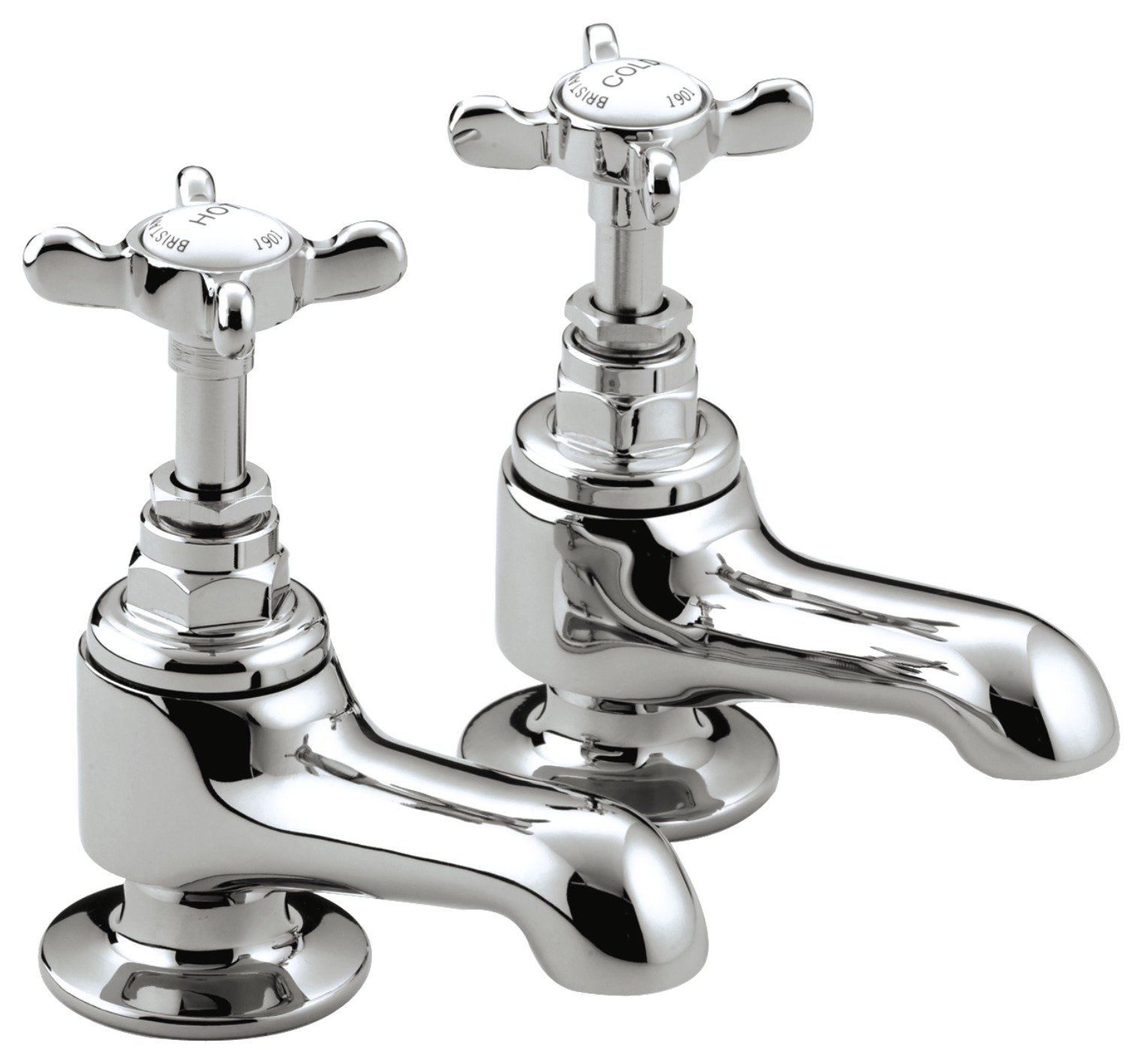 Image of Bristan 1901 Bath Taps - Chrome.