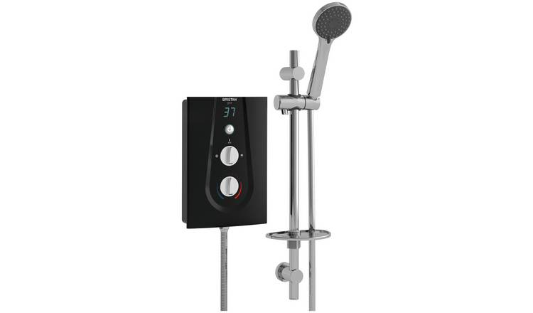Bristan Bliss 3 8.5KW Electric Shower with Digital Display Kit in White