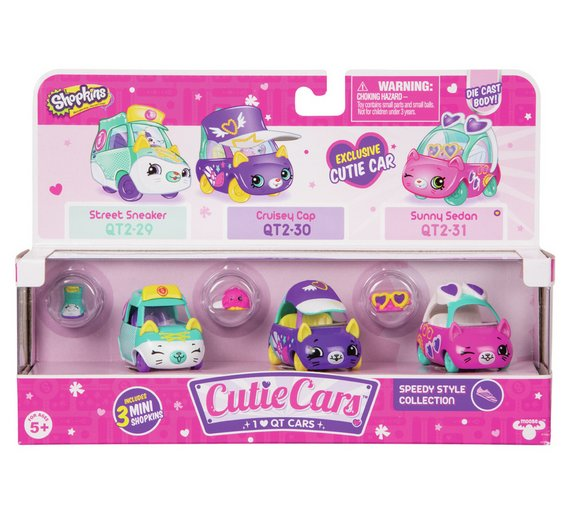 Buy Shopkins Cutie Cars 3 Pack 4 Assortments Series 2