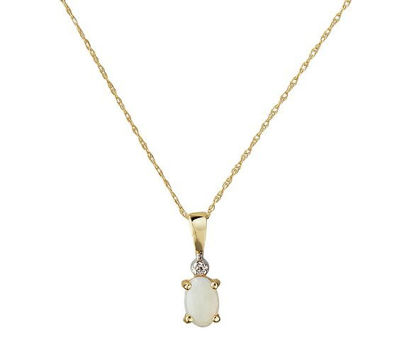 revere-9ct-gold-oval-opal-diamond-accent-pendant