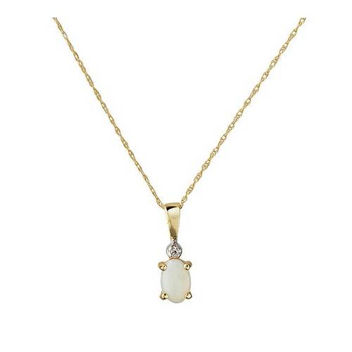9f322835b7ef4 Buy Revere 9ct Gold Diamond Accent Pendant 18 Inch Necklace | Womens  necklaces | Argos