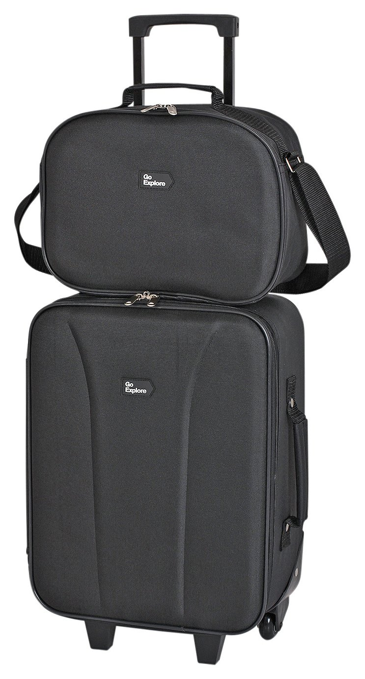Go Explore Trolley Case and Shoulder Bag Set lowest price