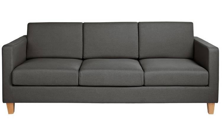 Buy Argos Home Rosie 3 Seater Fabric Sofa Grey Sofas Argos