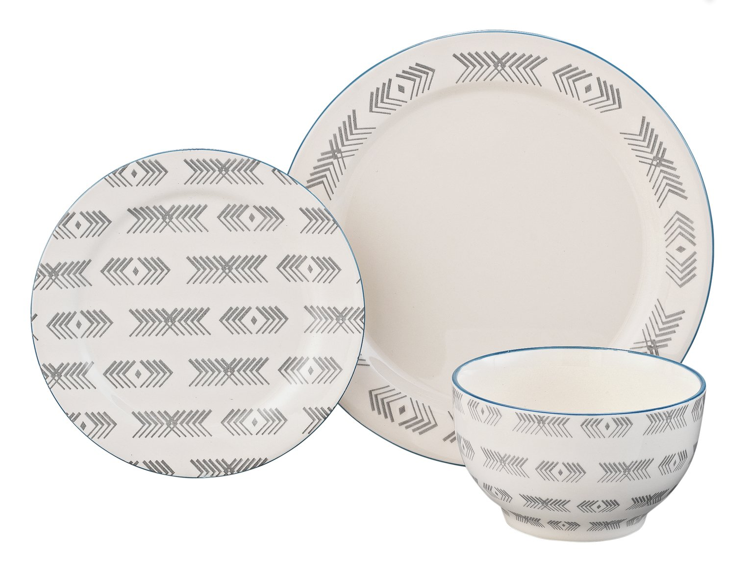 Argos Home Kilim 12 Piece Stoneware Dinner Set