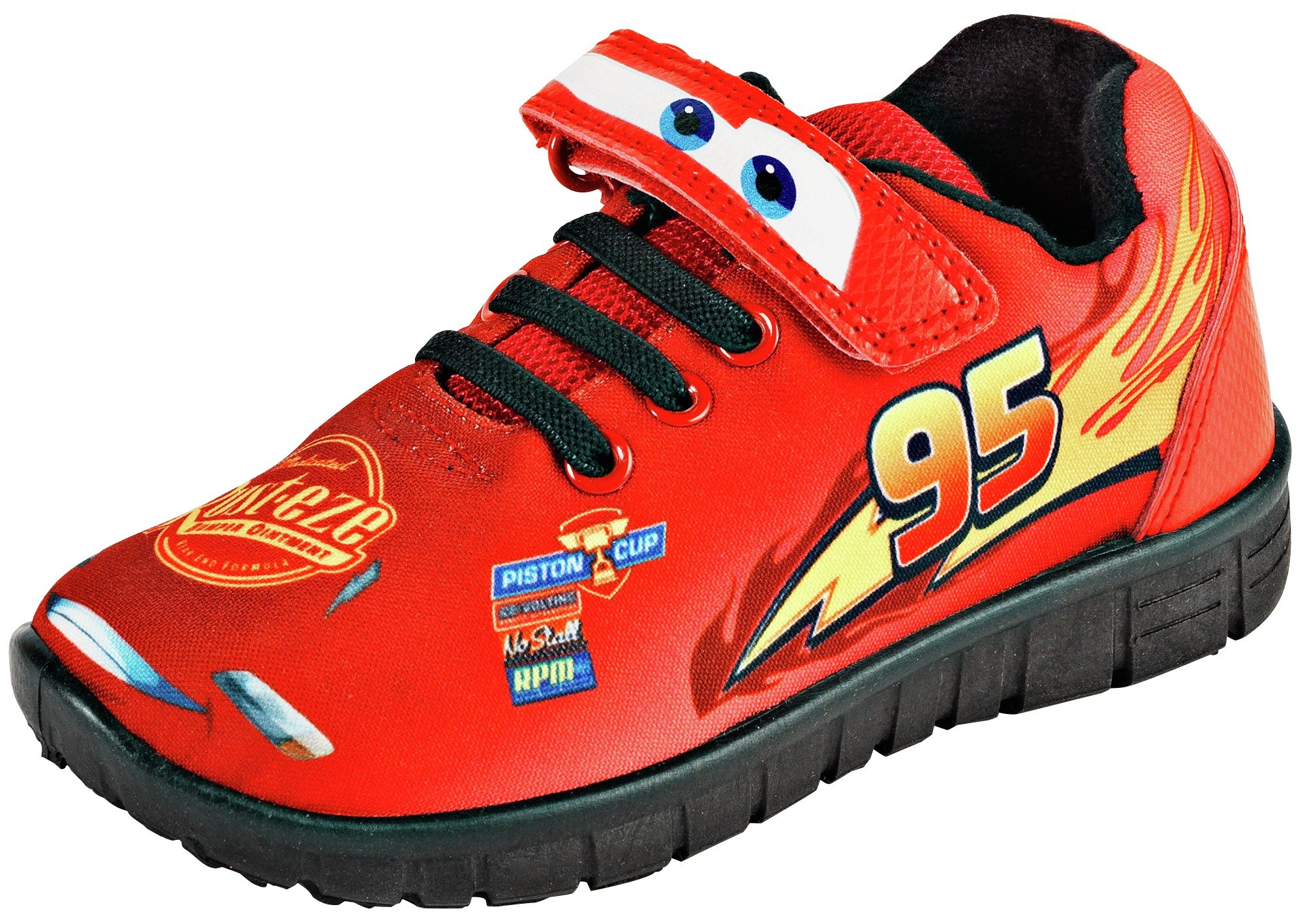 cars-red-novelty-trainers-size-11