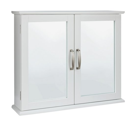Buy Collection New Tongue And Groove Mirrored Wall Cabinet White