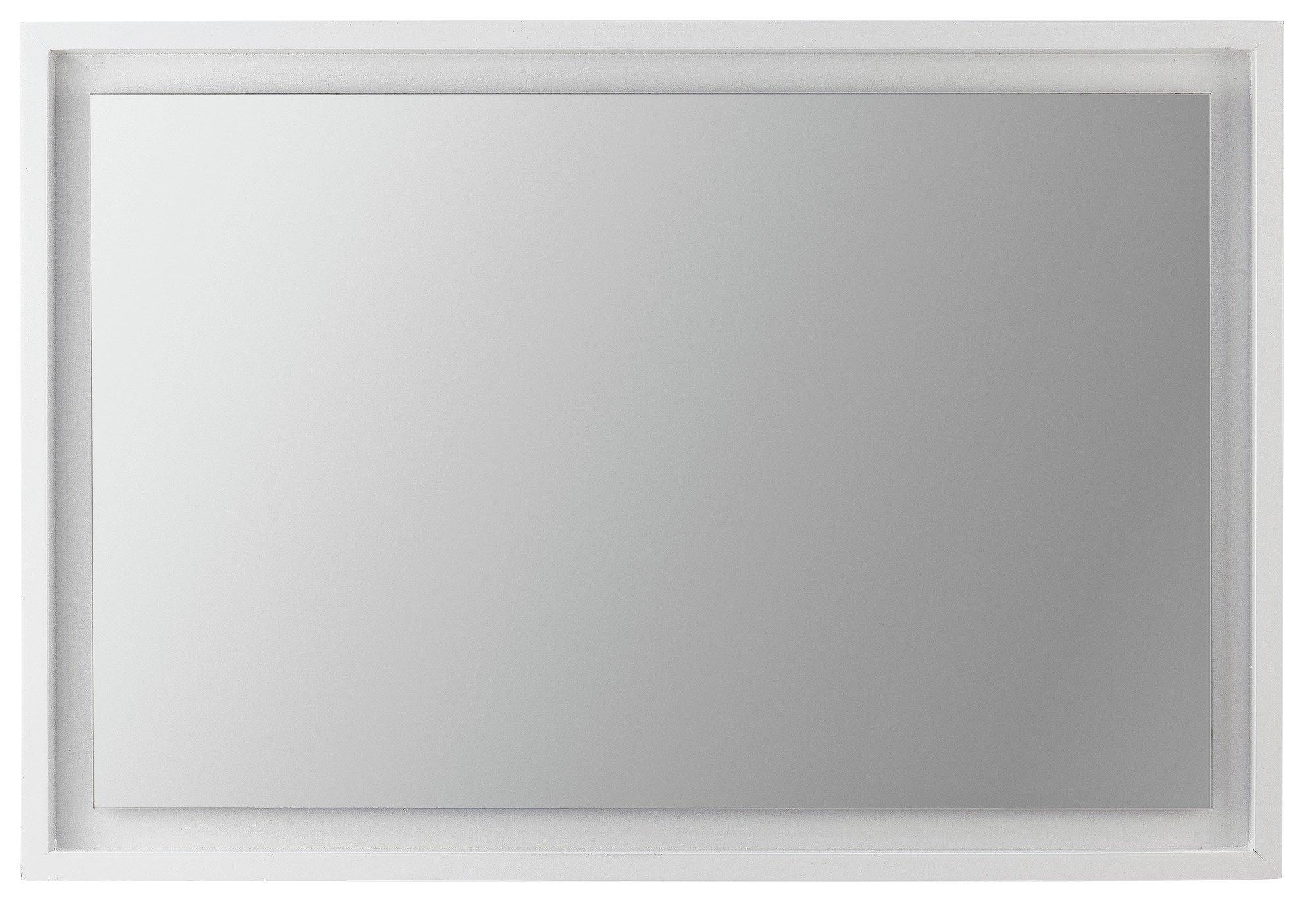 Argos Home Siena Rectangular Floating Wooden Mirror - White