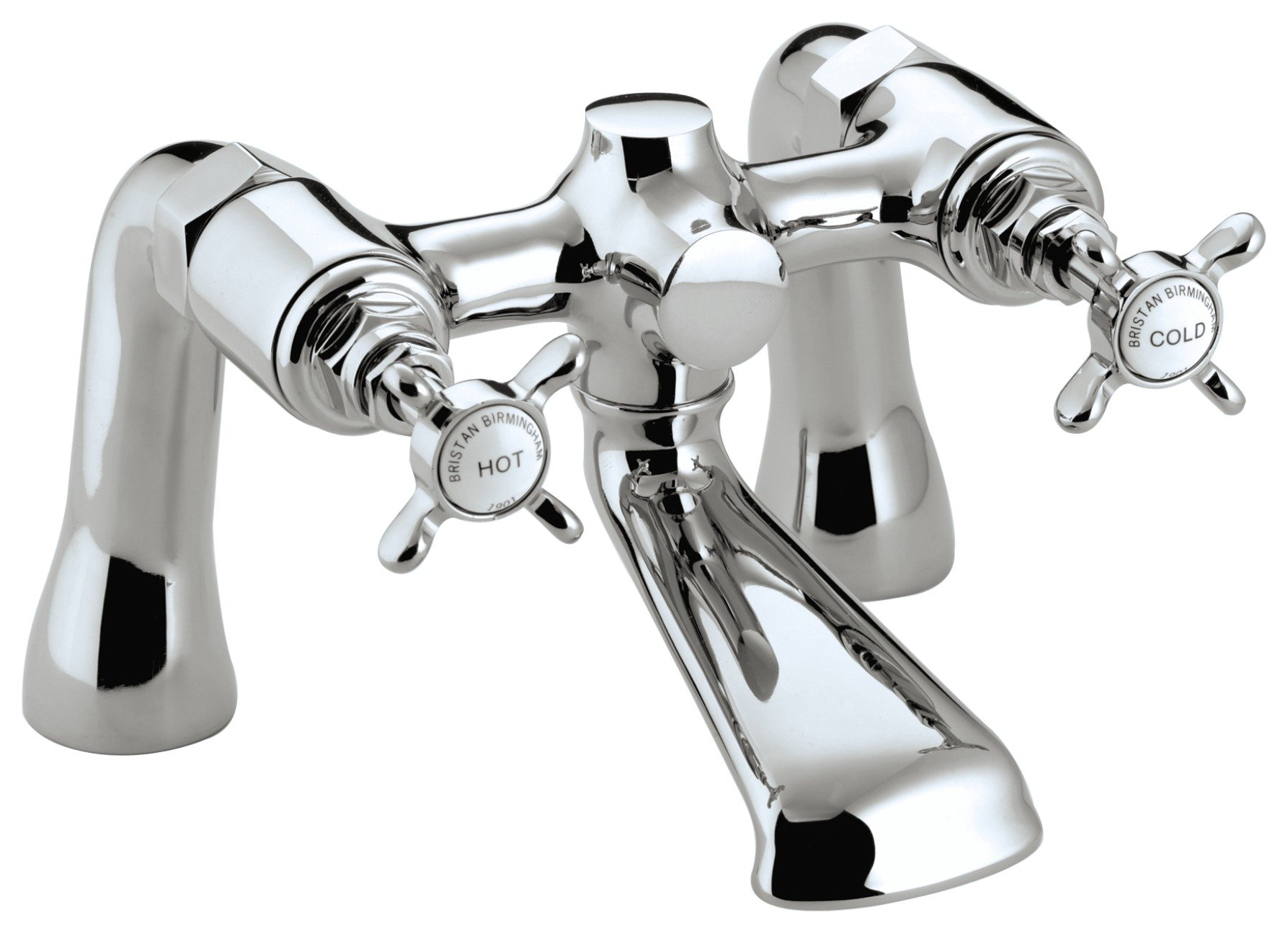 Image of Bristan 1901 Bath Filler Tap - Chrome.