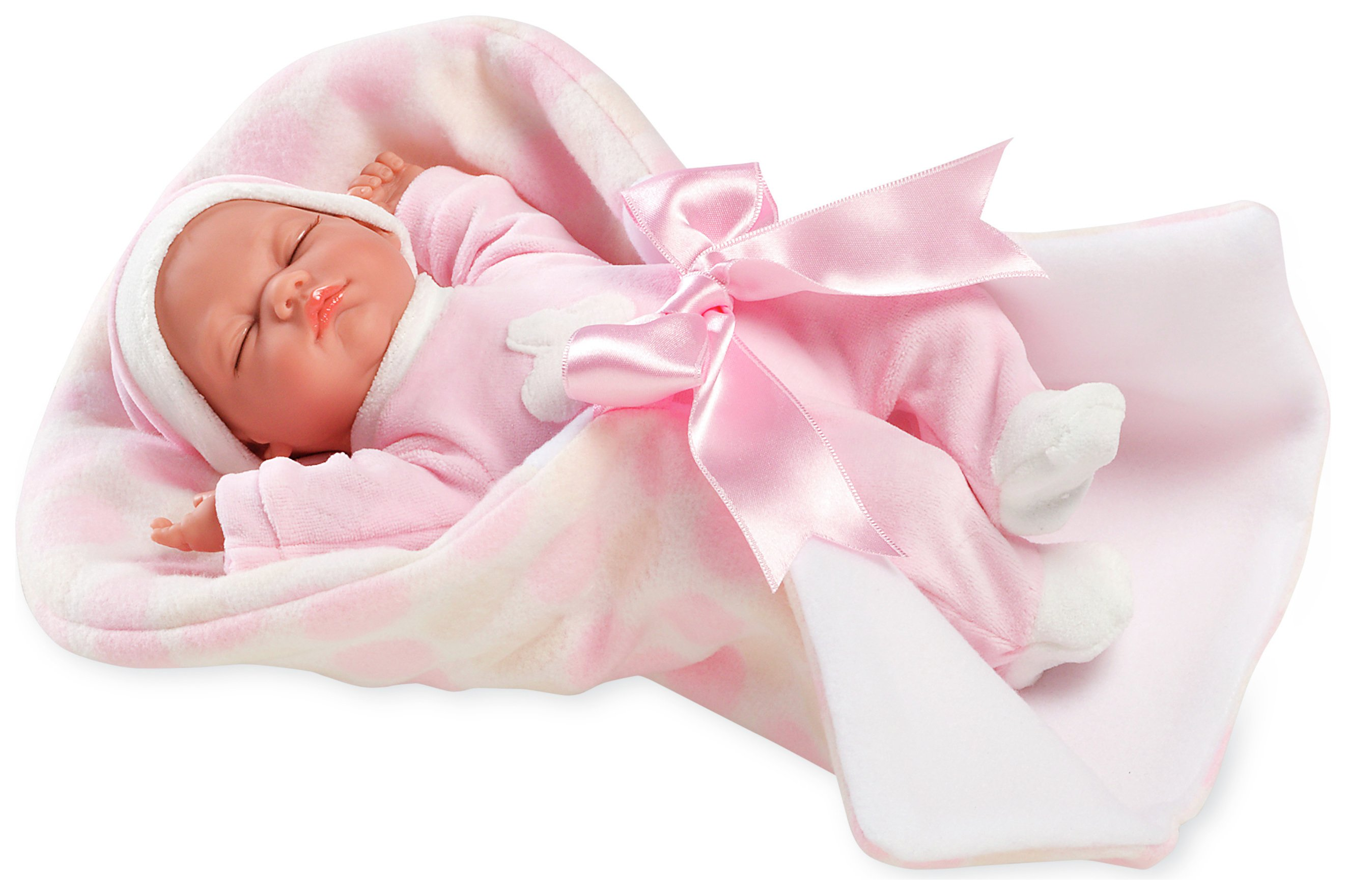 Image of Arias Elegance Crying Noa Baby Doll with Blanket