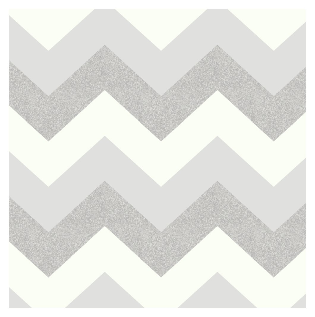 Image of Arthouse Glitterati Chevron Wallpaper - Platinum.