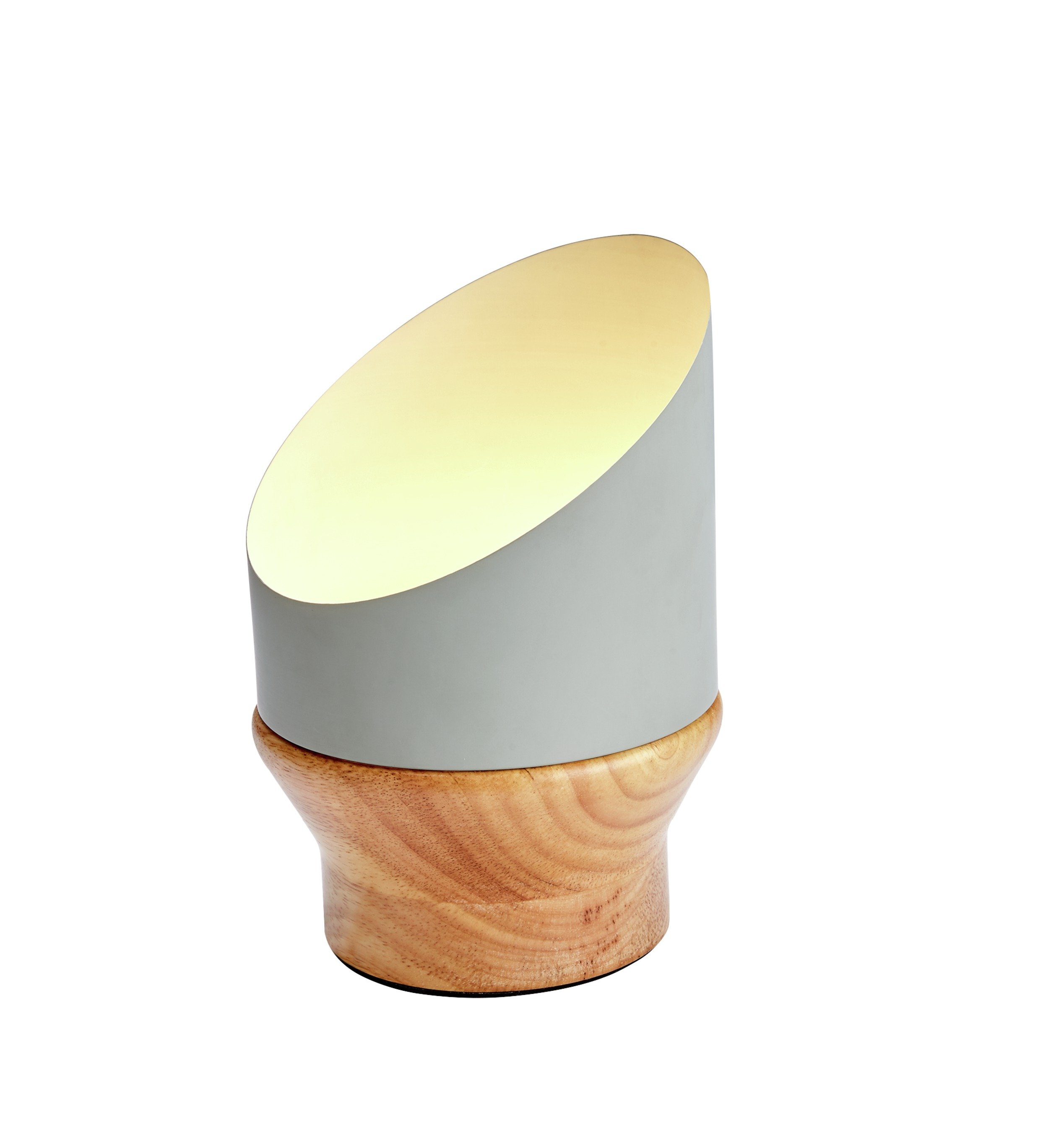 Image of Collection Paulie LED Table Lamp - Wood & Grey