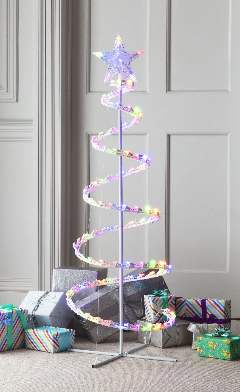 Argos Home 4ft 100 LED Spiral Tree - White
