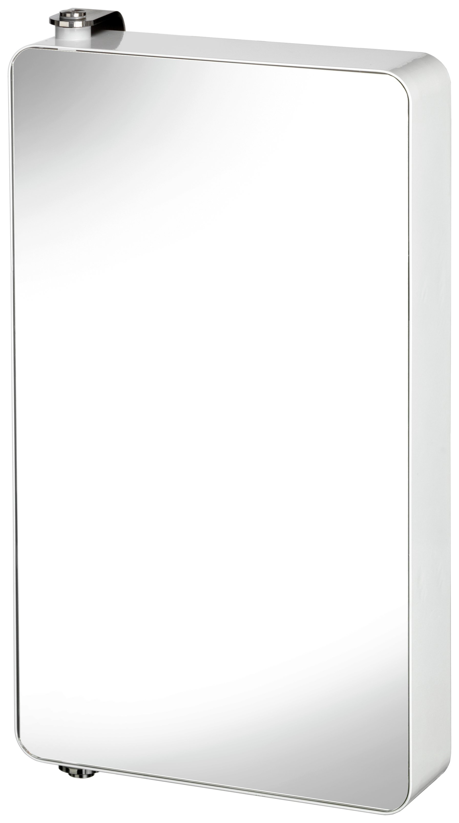 Image of Croydex Arun Large Pivoting St Steel Mirror Cabinet - White
