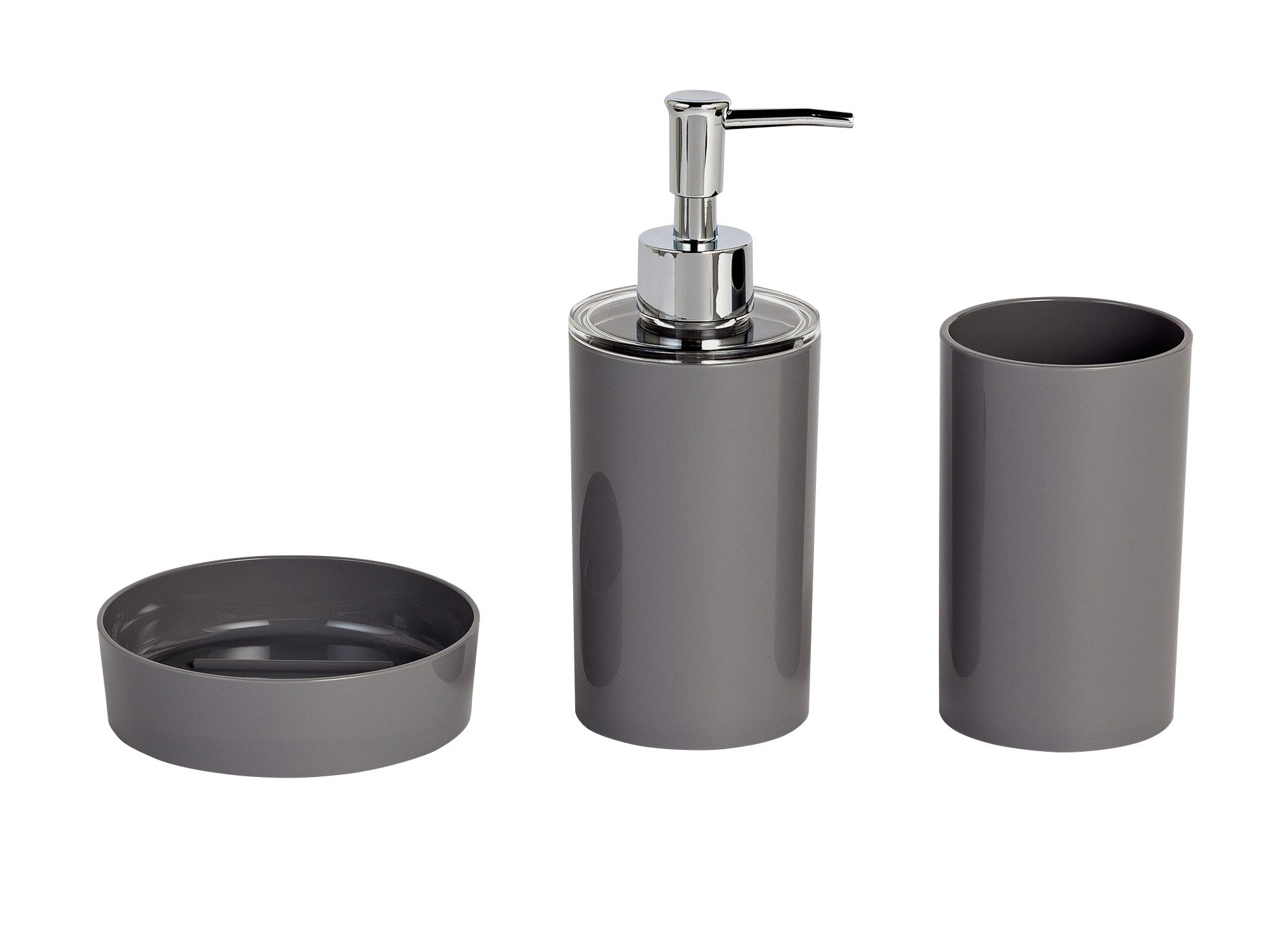 Image of ColourMatch 3 Piece Bathroom Accessory Set - Flint Grey