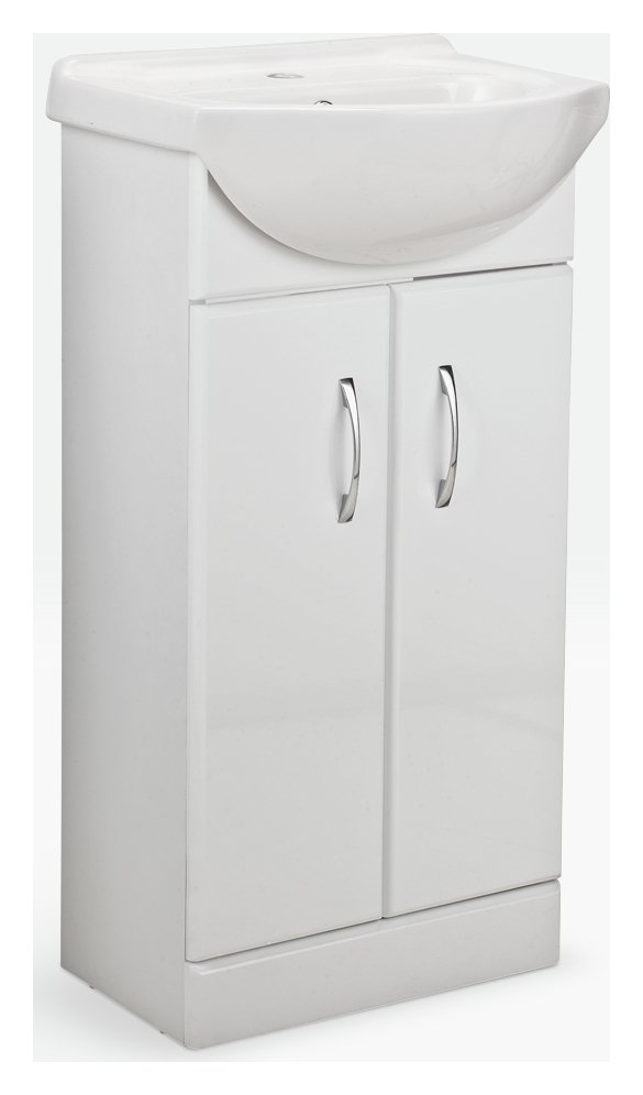 Argos Home Vanity Unit & Basin - White Gloss