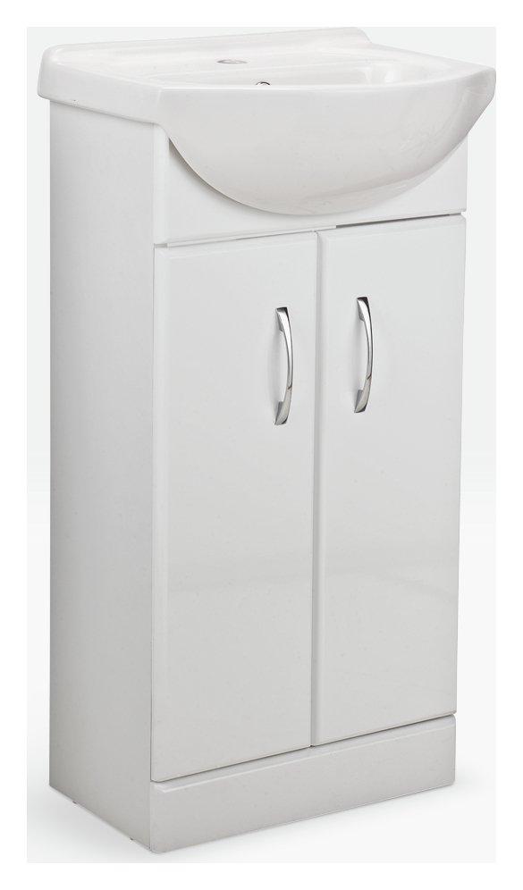 Hygena Vanity Unit & Basin - White Gloss