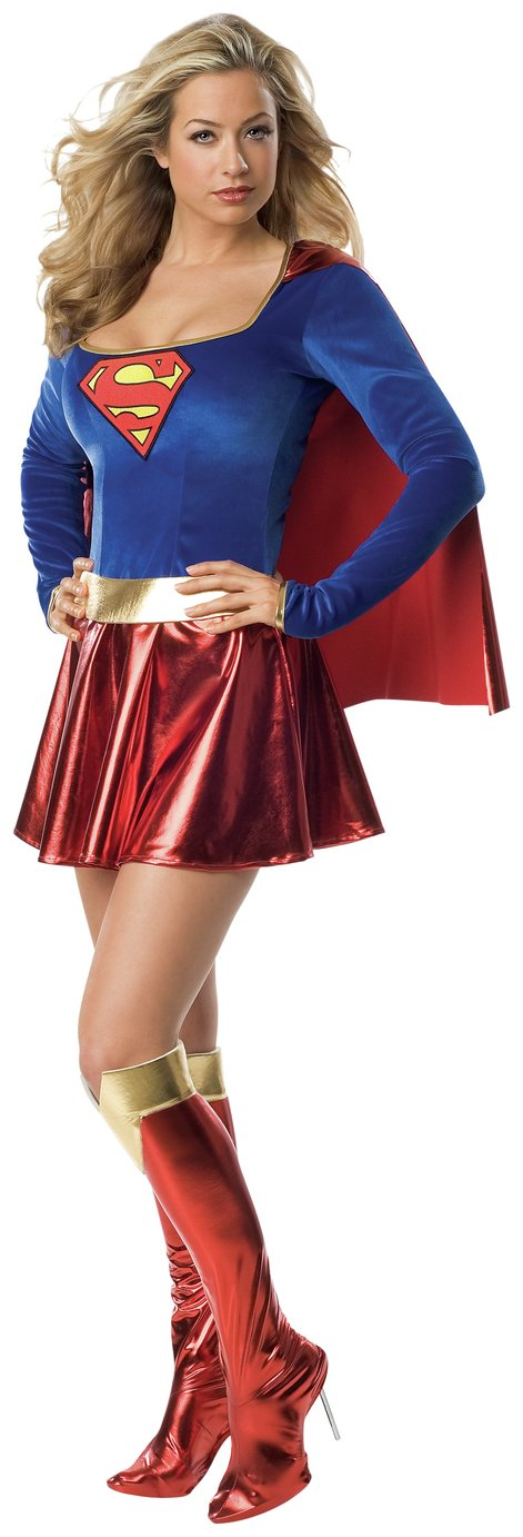 Supergirl Women's Fancy Dress Costume - Size Medium.