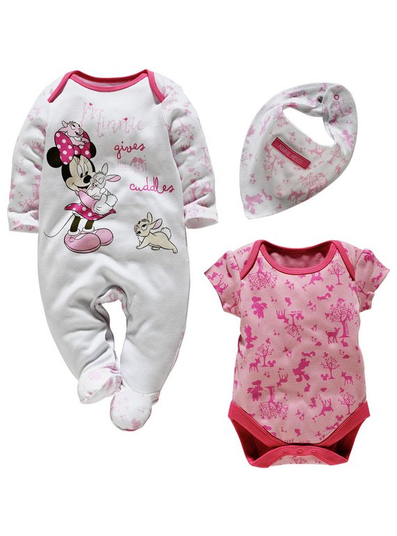 Buy Baby Minnie Mouse Gift Set - 0-3 Months | Baby clothing | Argos