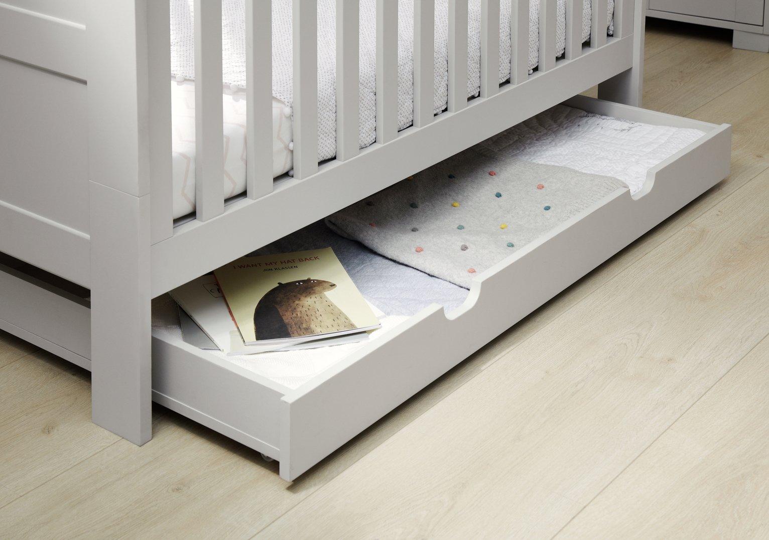Image of Mamas & Papas Harrow Grey Underbed Storage Unit