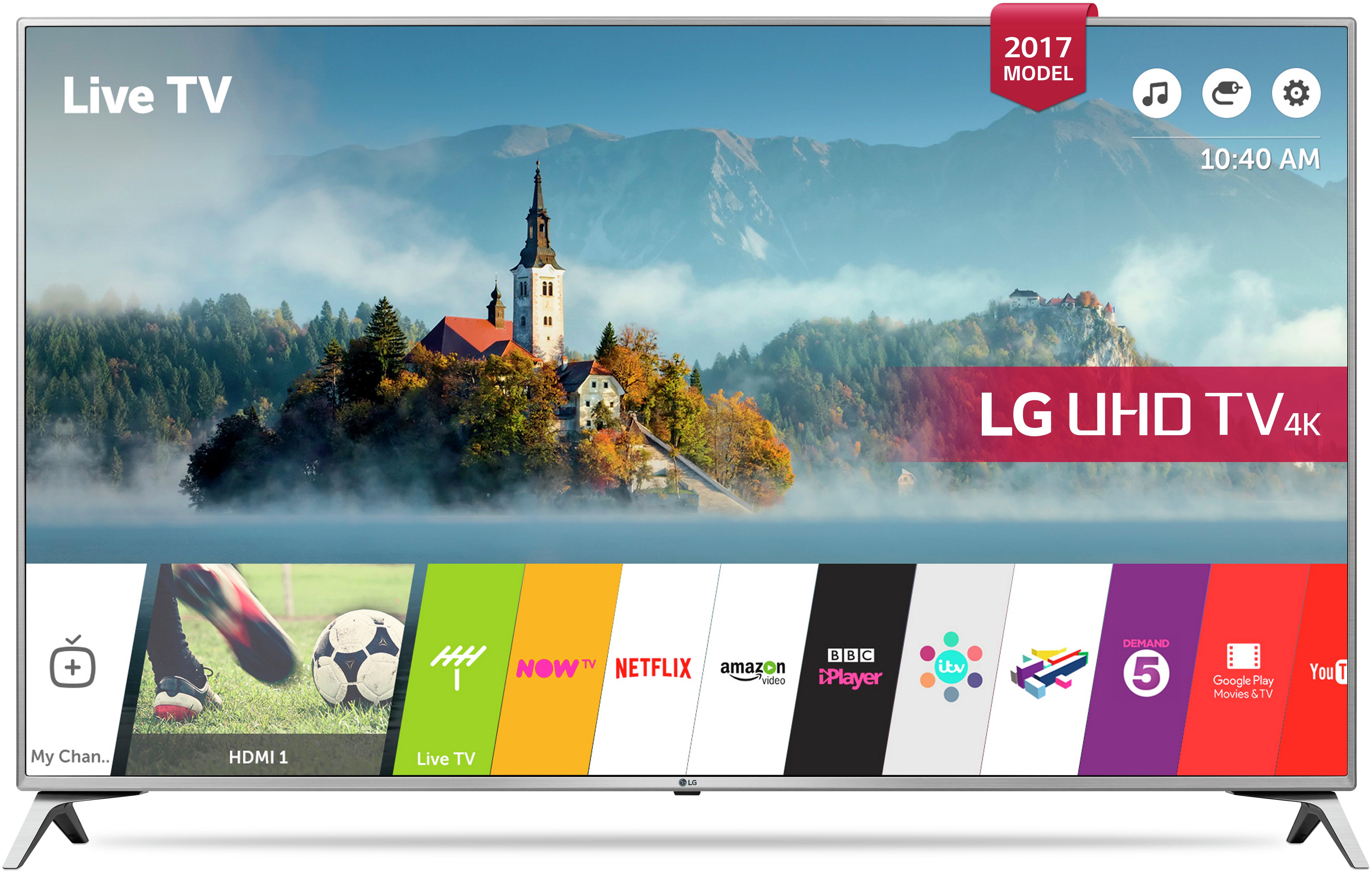 LG 55UJ651V 55 Inch 4K Ultra HD Smart TV.