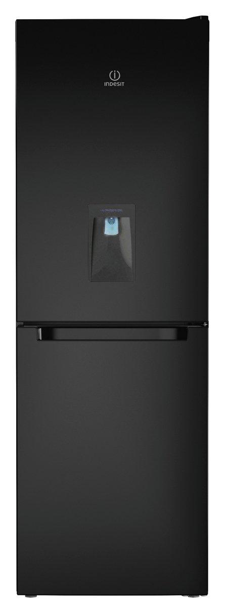 Indesit LD70N1K Fridge Freezer - Black.