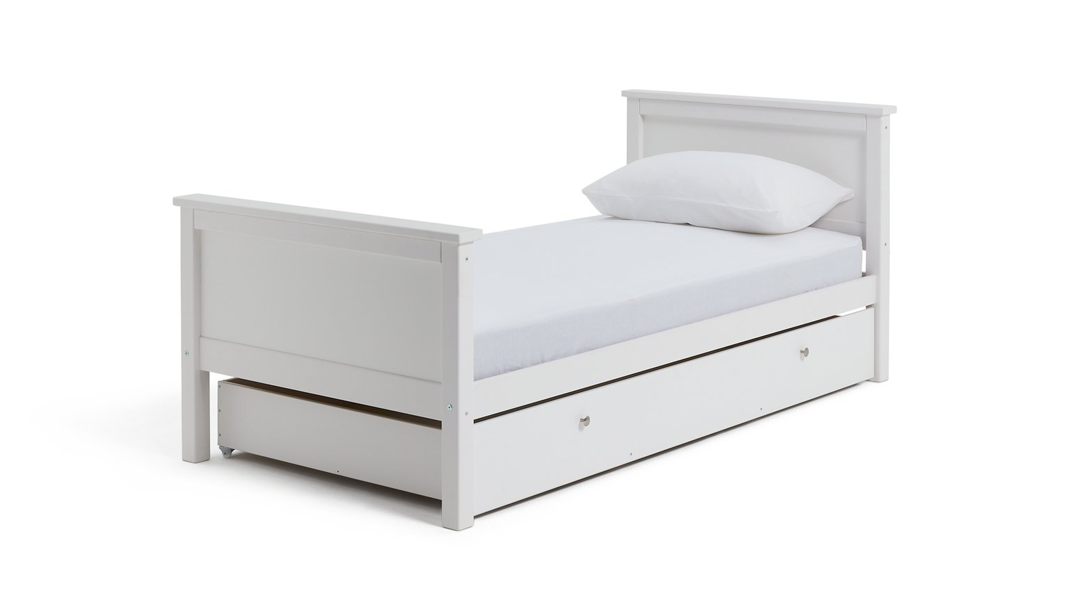 Collection Brooklyn Bed Frame with Drawer - White