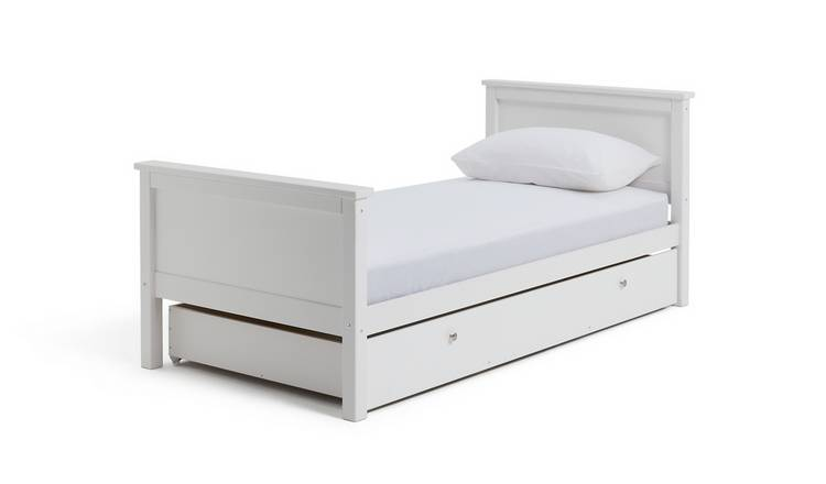 faac1a89d1b Buy Argos Home Brooklyn White Bed Frame with Drawer