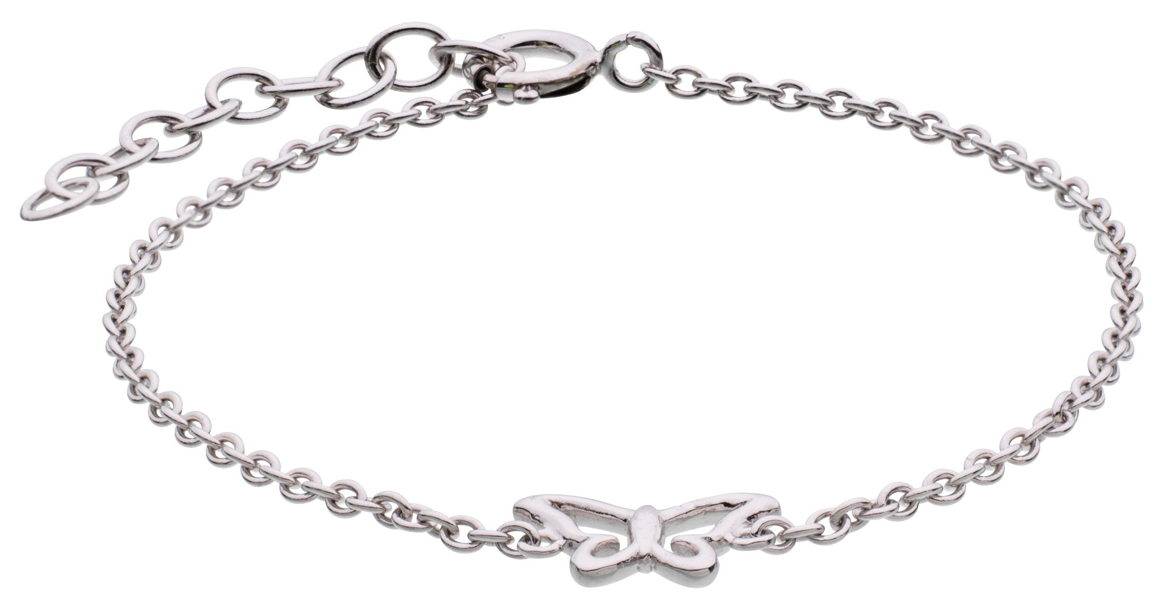 Image of Accents by Hot Diamonds Sterling Silver Butterfly Bracelet