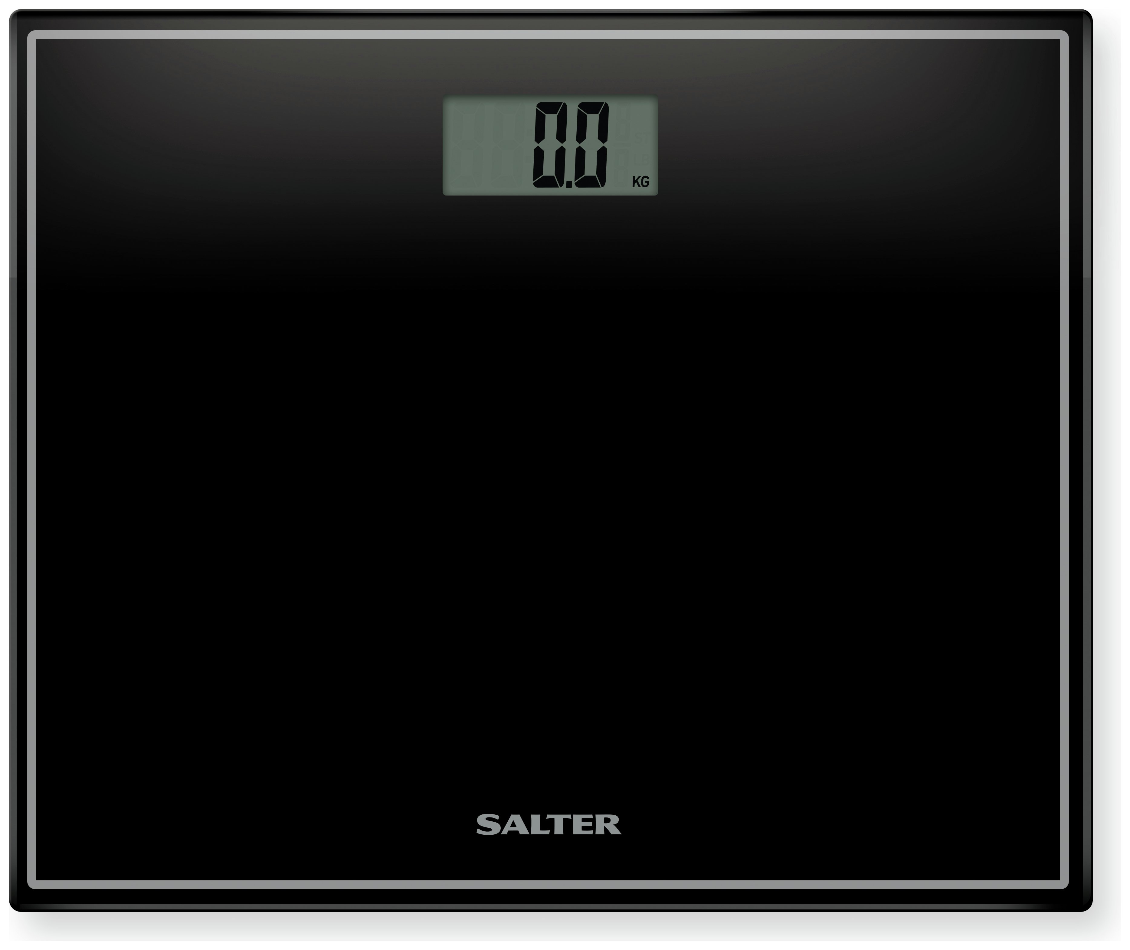 Salter Compact Glass Platform Electronic Scales - Black