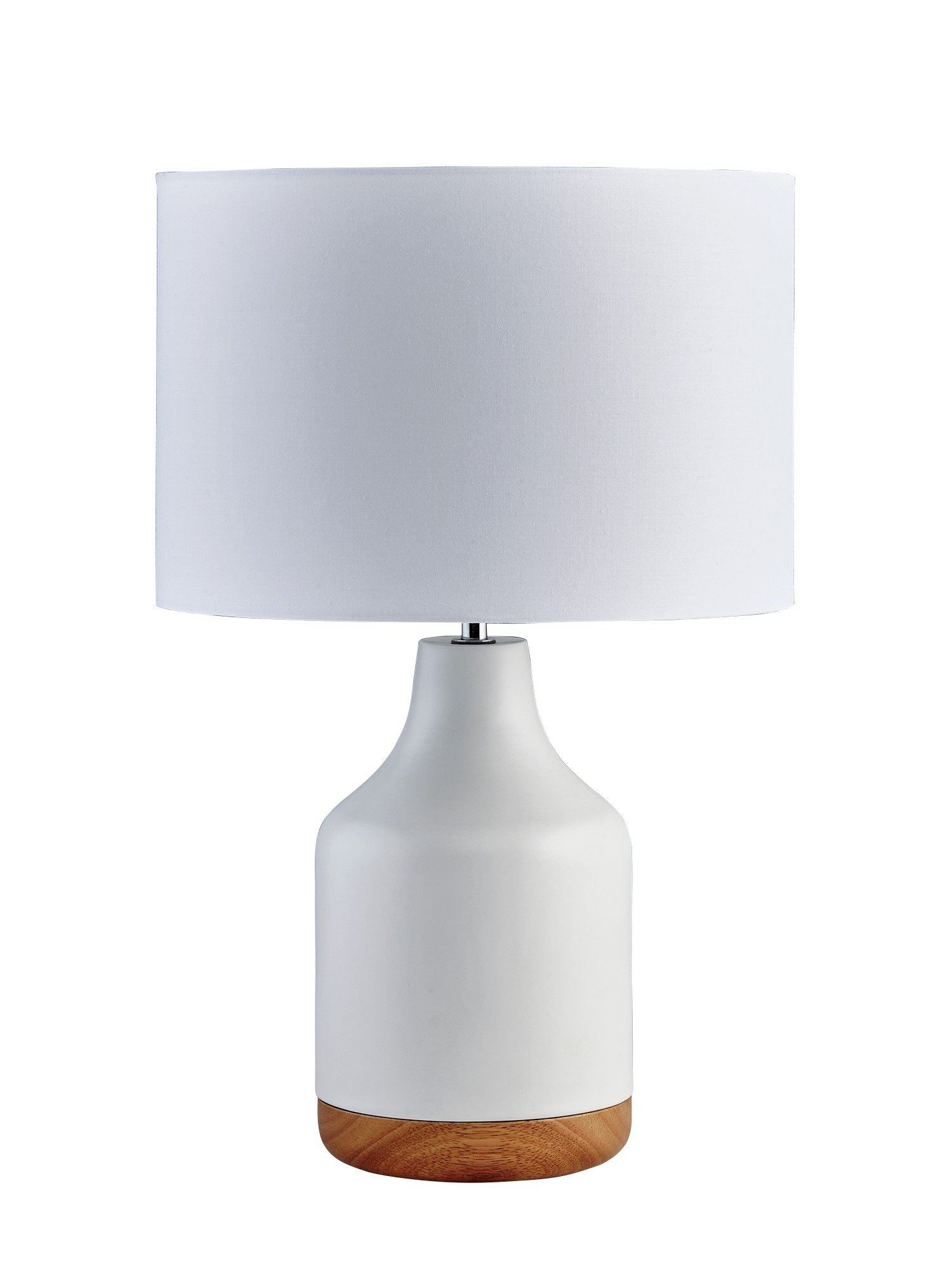 Heart of House Inca Metal & Wood Table Lamp - White