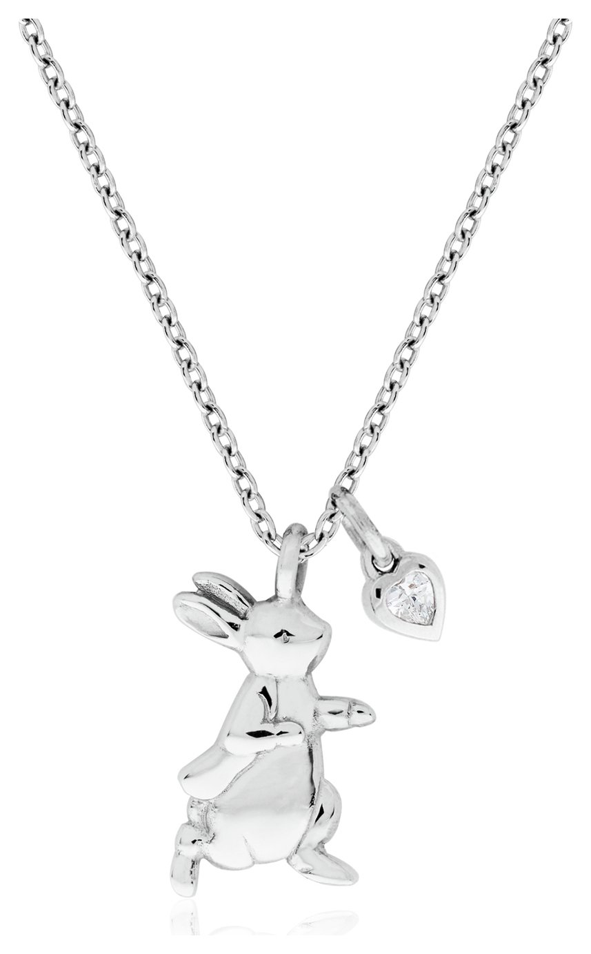 Beatrix Potter Sterling Silver Peter Rabbit CZ Pendant