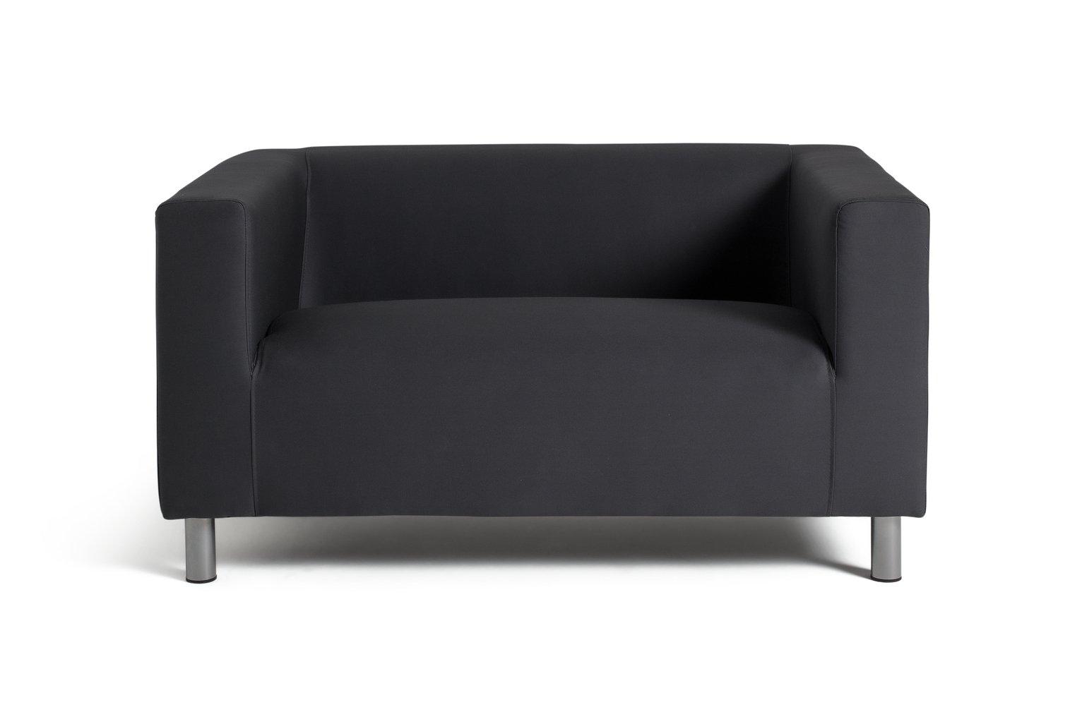 Argos Home Moda Compact 2 Seater Fabric Sofa - Grey