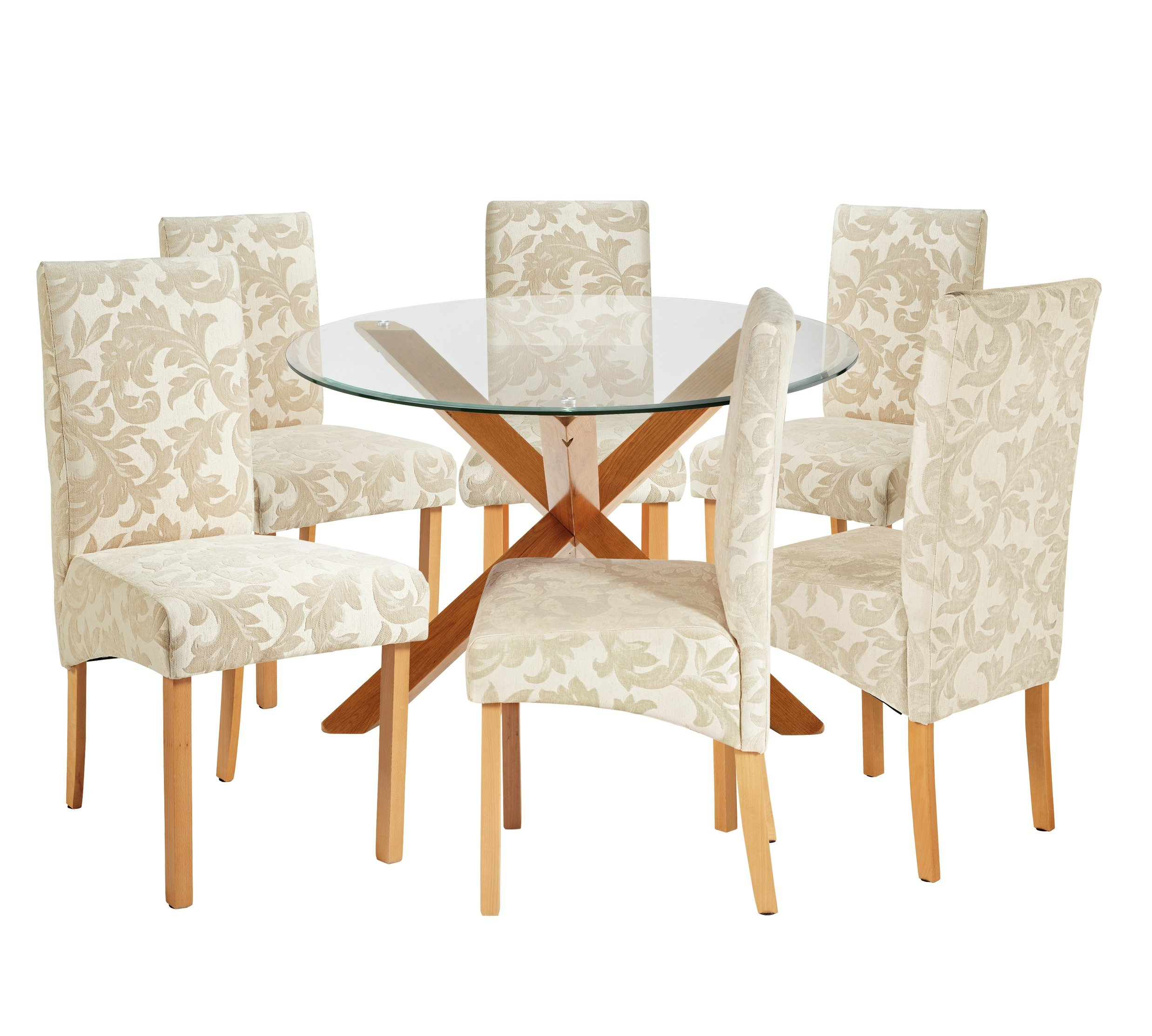 Heart of house oakington round table 6 chairs octer for Round table 99 rosenheim