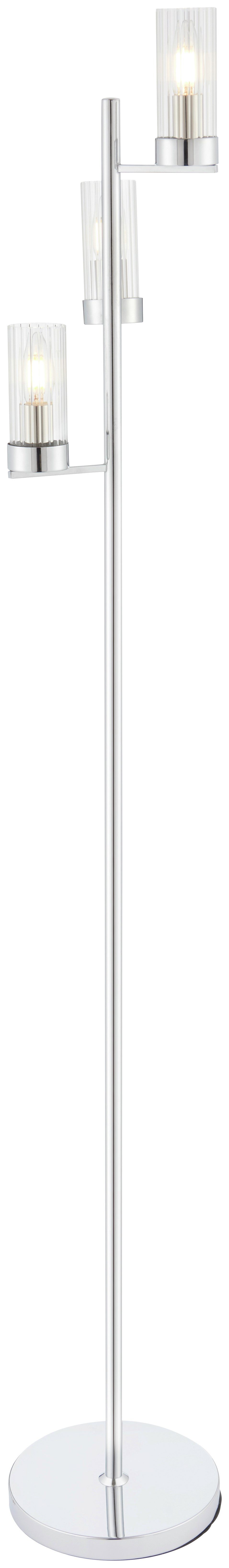 Argos Home Wallis 3 Light Glass & Chrome Floor Lamp