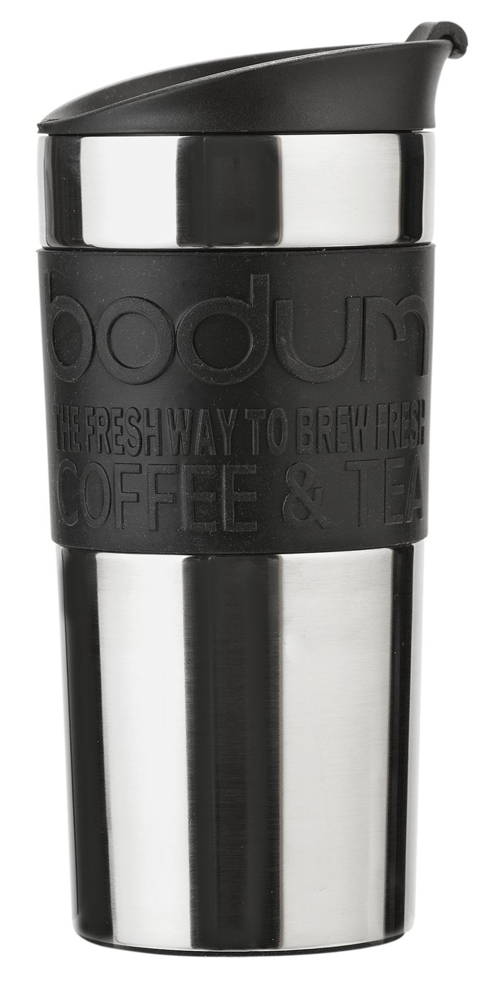 Bodum Stainless Steel and Black Travel Mug
