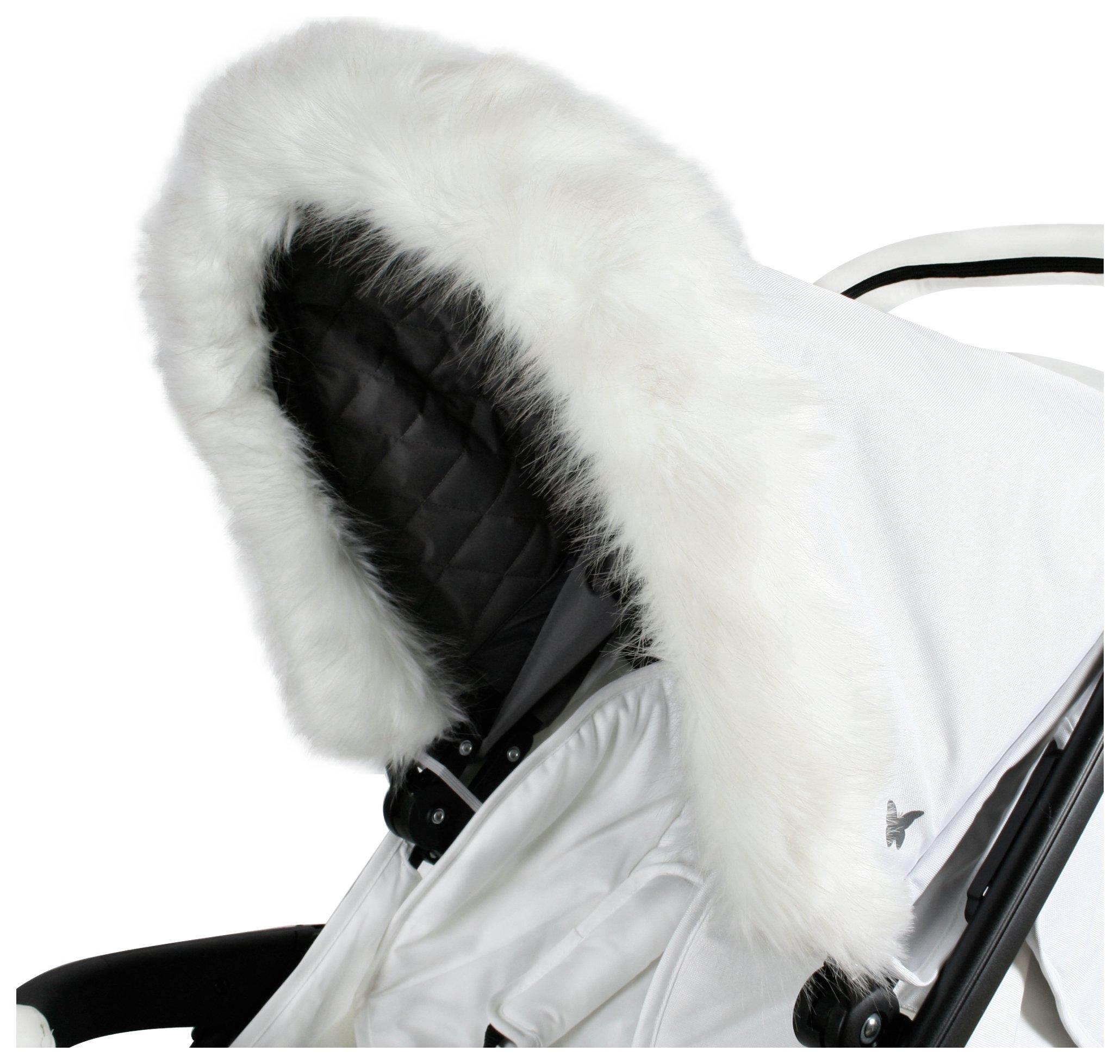 My Babiie Fur Hood Trim - White