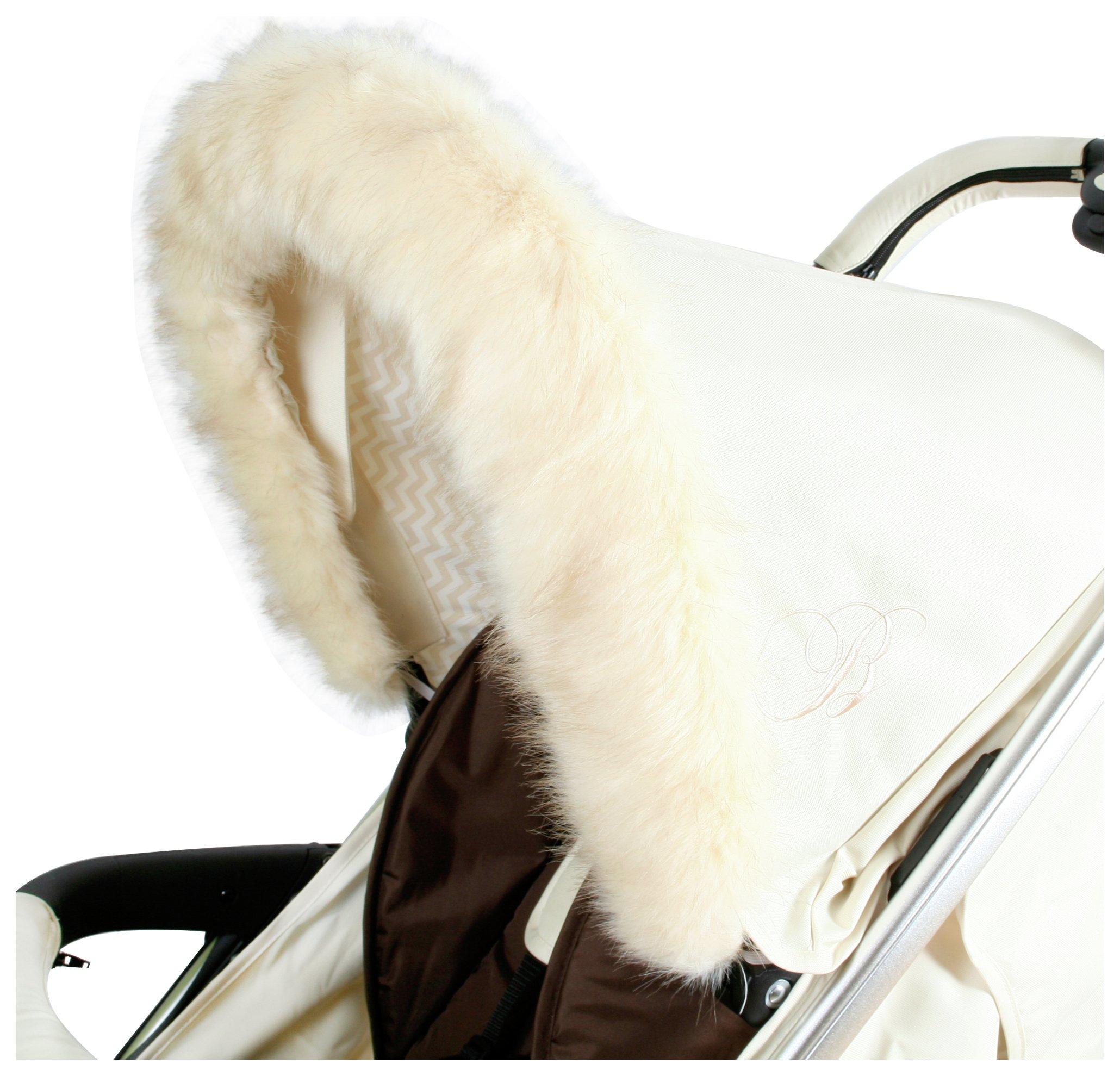 Image of My Babiie Fur Hood Trim - Cream