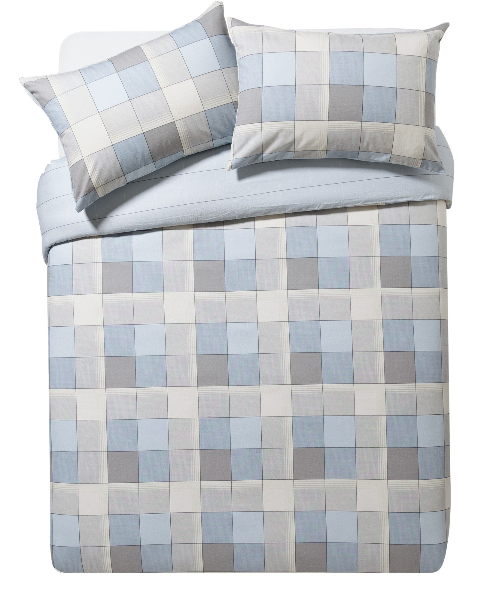 argos home louis blue brushed cotton bedding set double. Black Bedroom Furniture Sets. Home Design Ideas