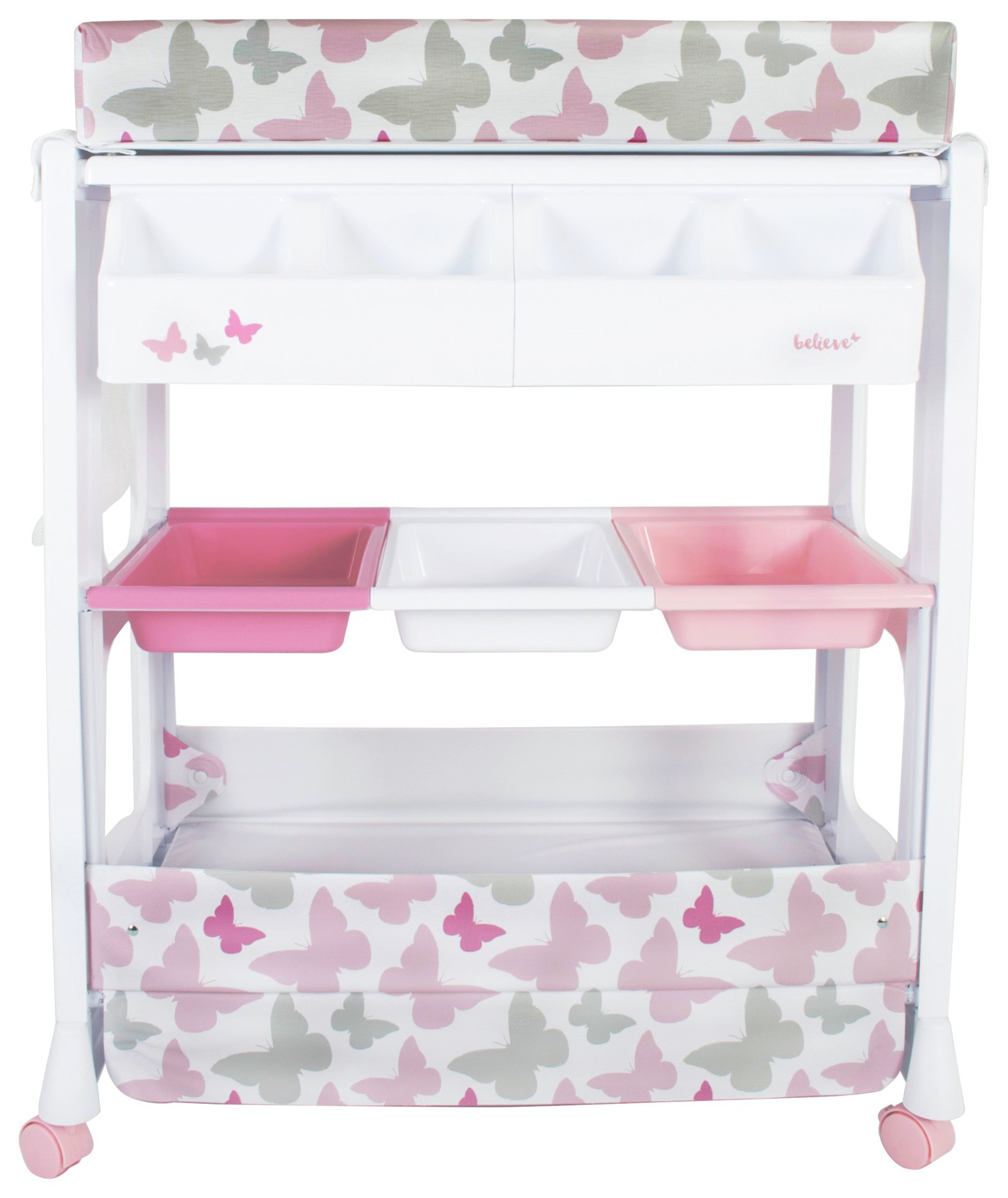 Image of My Babiie Changing Unit - Pink Butterfly