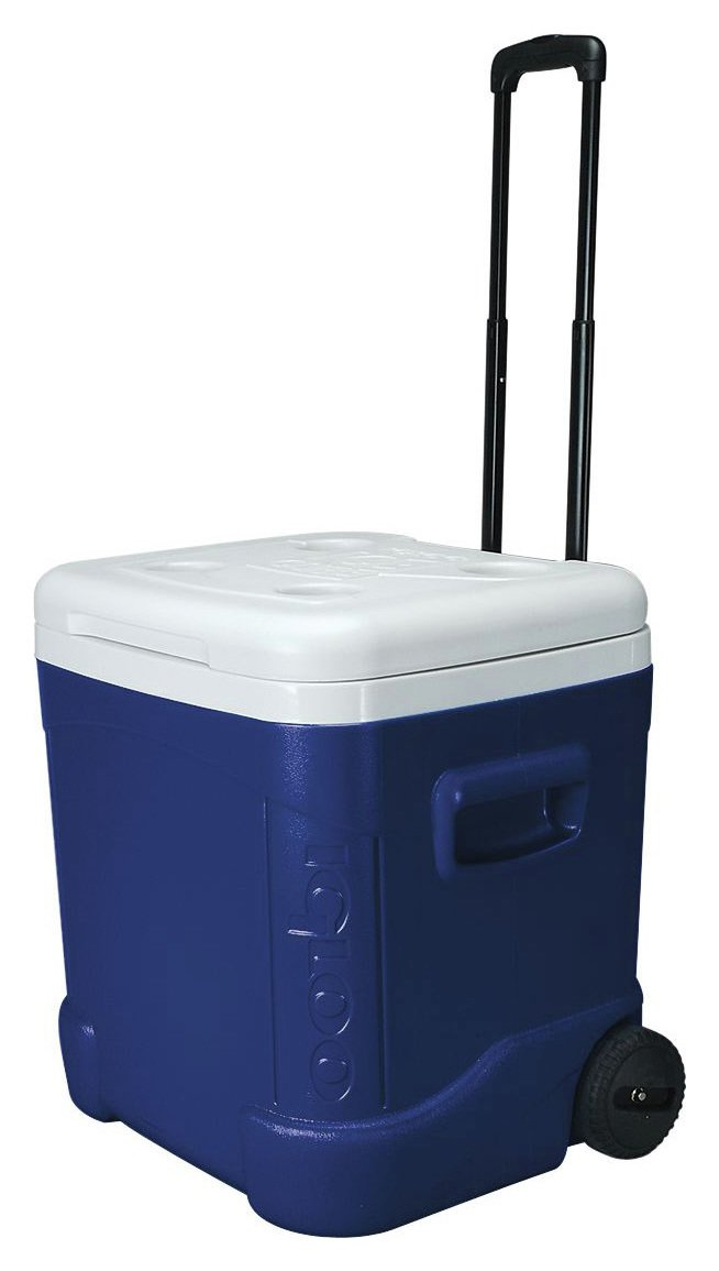 Igloo 56 Litre Cube-Shaped Roller Coolbox