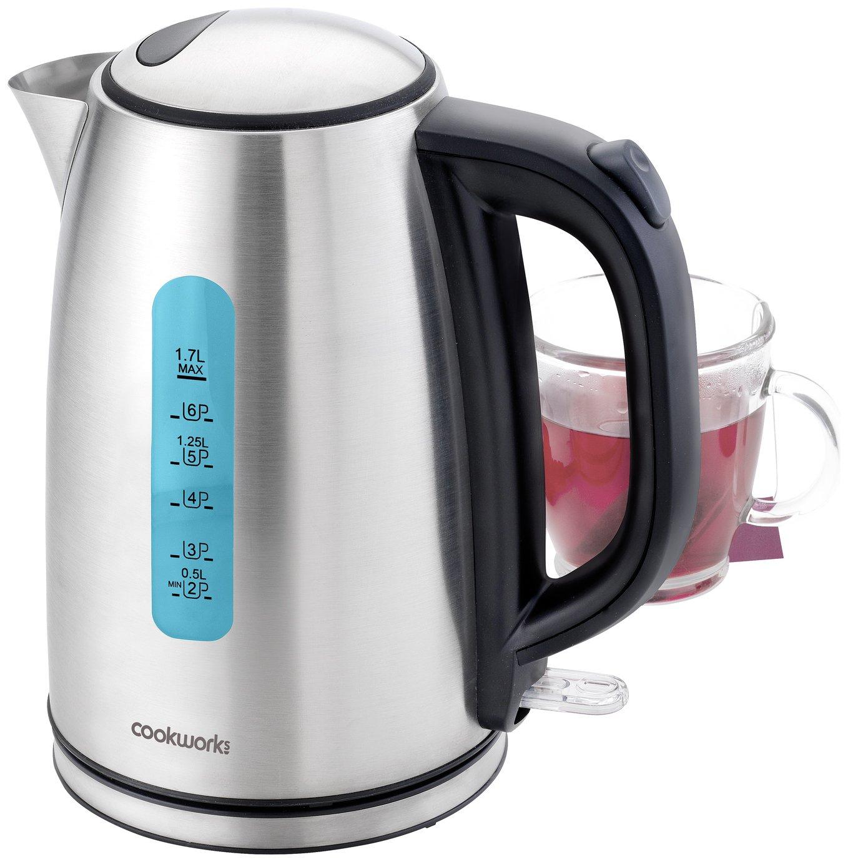 cookworks illumination kettle stainless steel kettles. Black Bedroom Furniture Sets. Home Design Ideas