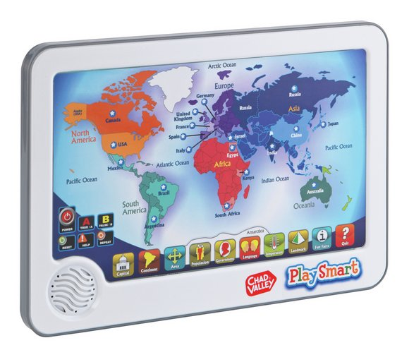 Buy chad valley playsmart interactive touch pad world map 2 for 15 chad valley playsmart interactive touch pad world map gumiabroncs Gallery