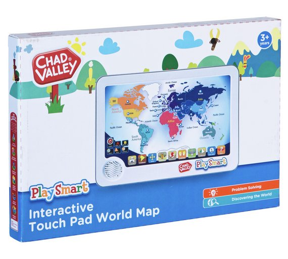Buy chad valley playsmart interactive touch pad world map 2 for 15 chad valley playsmart interactive touch pad world map gumiabroncs Choice Image