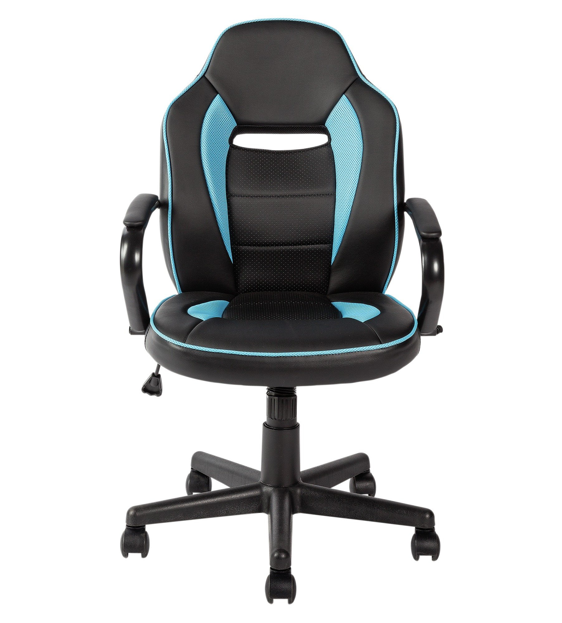 buy home mid back office gaming chair - blue & black at argos.co