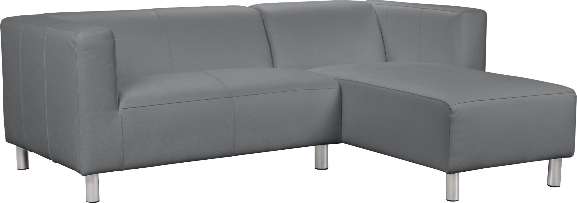 Argos Home Moda Right Corner Faux Leather Sofa - Grey