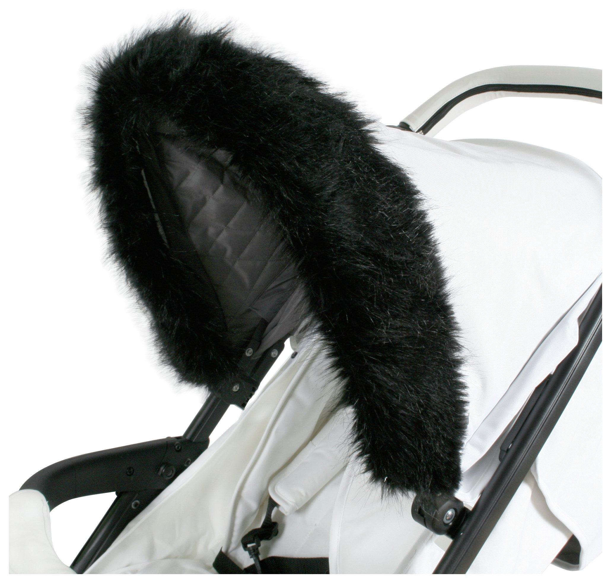 Image of My Babiie Fur Hood Trim - Black