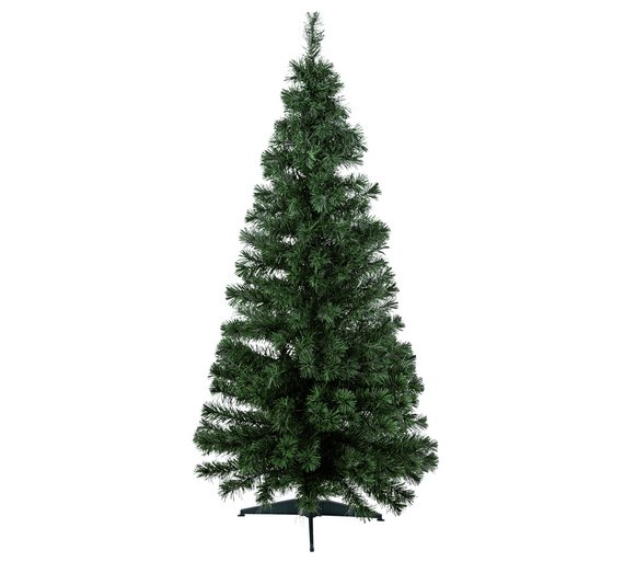 argos home 6ft fibre optic christmas tree green