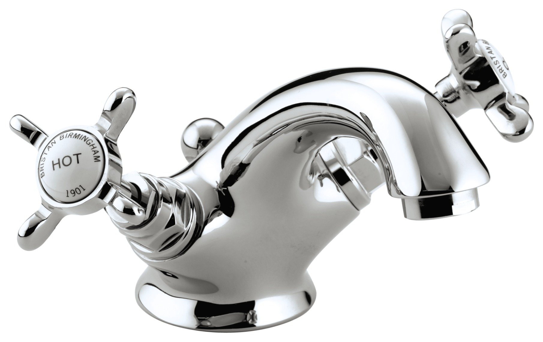 Image of Bristan 1901 Basin Mixer Taps - Chrome.