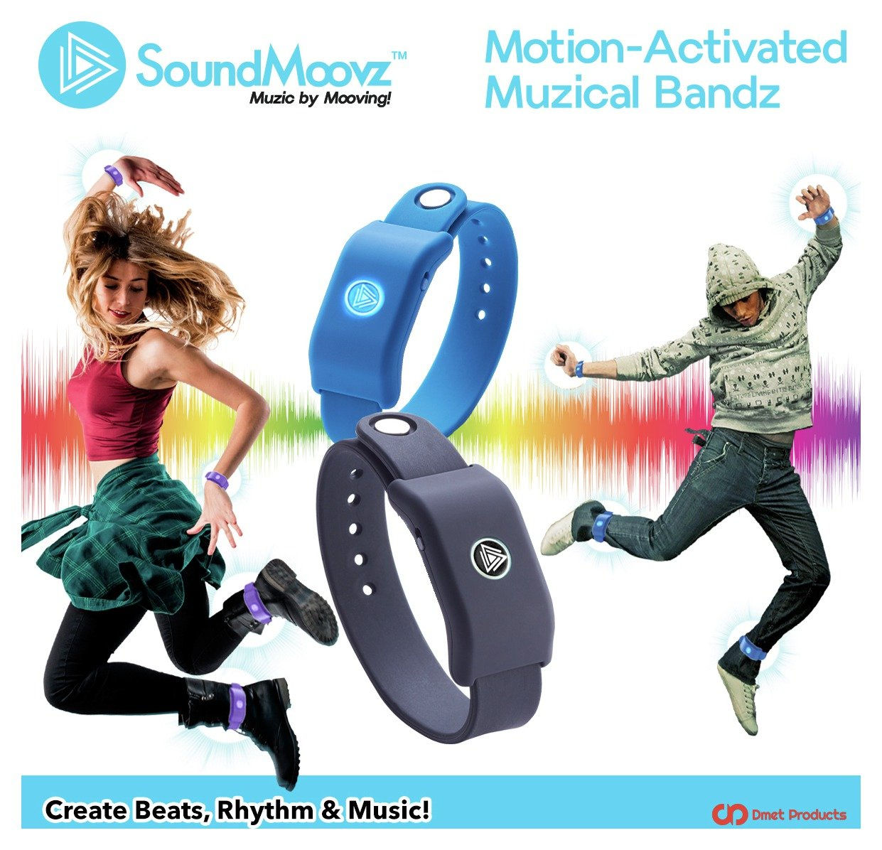 Image of Beat Moovz SoundMoovz Motion-Activated Musical Bandz & App