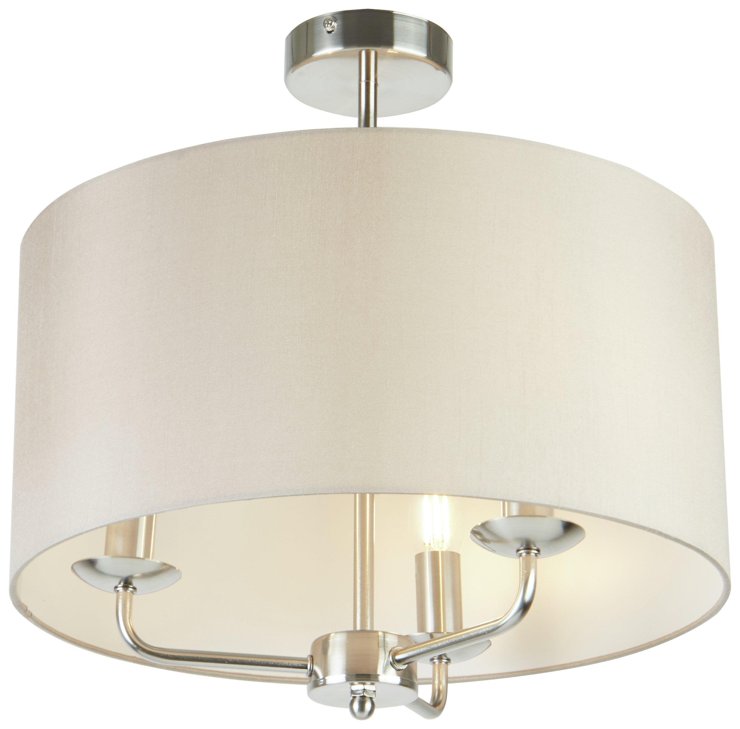 Led Light Fittings Argos: Argos Home Grace 3 Light Ceiling Fitting